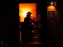 Cowboy in Galisteo NM Bar
