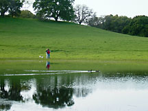 Couples at pond on Pleasanton Ridge